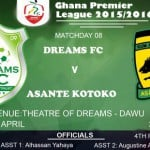 Re-live the Ghana Premier League LIVE play-by-play: Dreams FC 0-1 Asante Kotoko