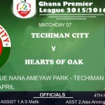 Re-live the Ghana Premier League LIVE play-by-play: Techiman City 0-0 Hearts of Oak