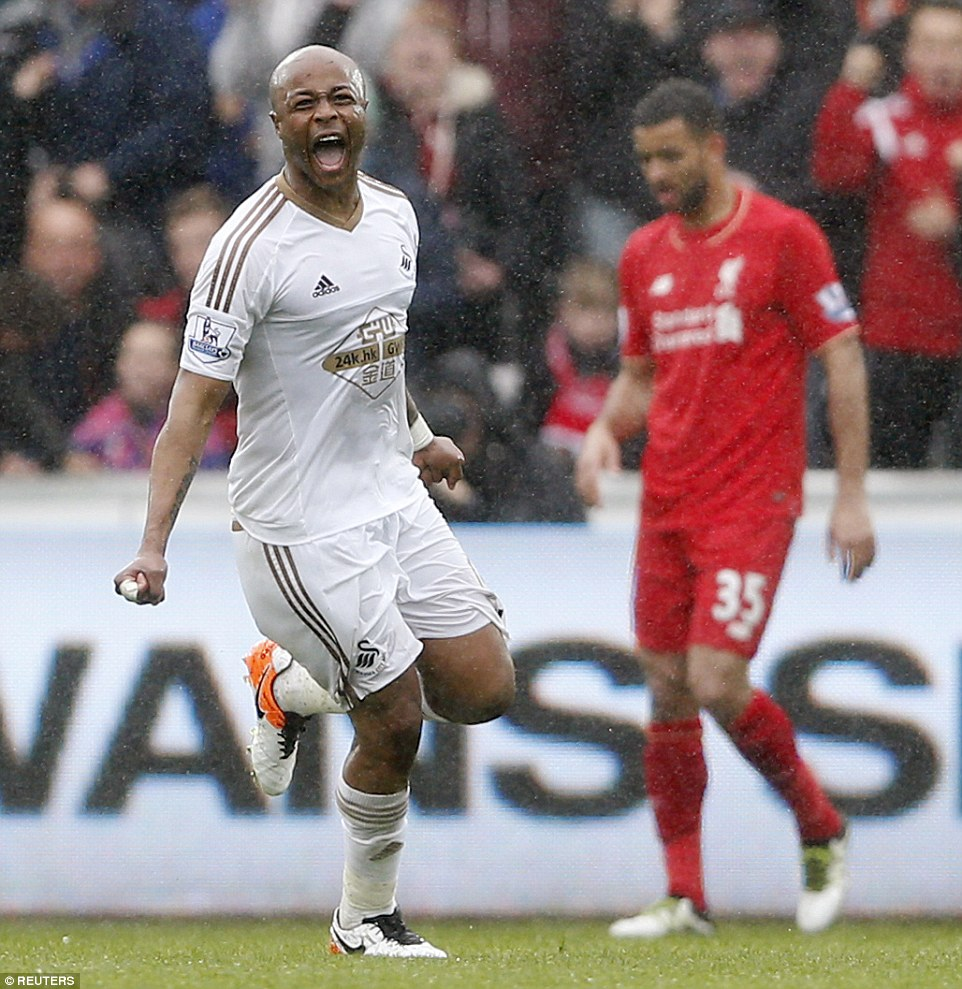 VIDEO: Watch Andre Ayew's stunning brace against Liverpool in the English Premier League
