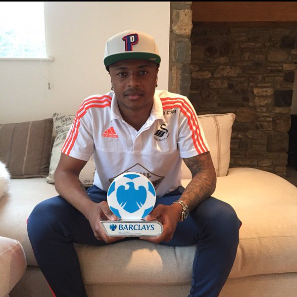 Swansea star Andre Ayew savours man-of-the-match award in Liverpool win