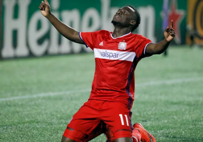 Ghana attacker David Accam makes injury return for Chicago Fire