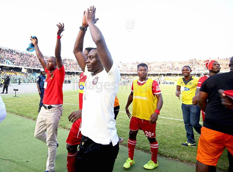 Teary interim Kotoko coach Michael Osei shorts words to describe
