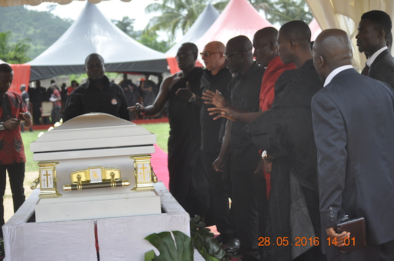 PHOTOS: Former Kotoko vice-chairman Kenpong buries mum in Mpraeso Kwahu