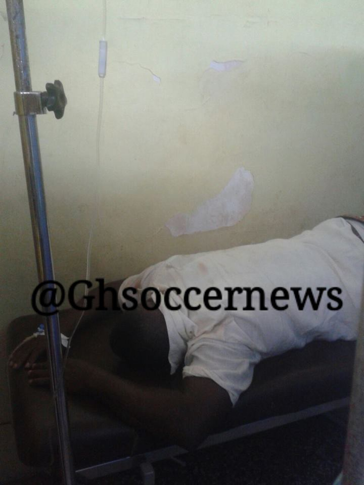 HOOLIGANISM: Ghanaian coach Kobina Amissah beaten to near-death by opposition fans, collapses and hospitalised