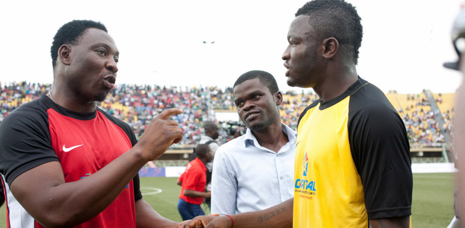 Sulley Muntari scores in Joseph Yobo testimonial for Team World XI side