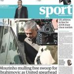 Today's newspaper gossip: Barca, Man City battling for John Stones; Mourinho mulling Ibrahimovic swoop