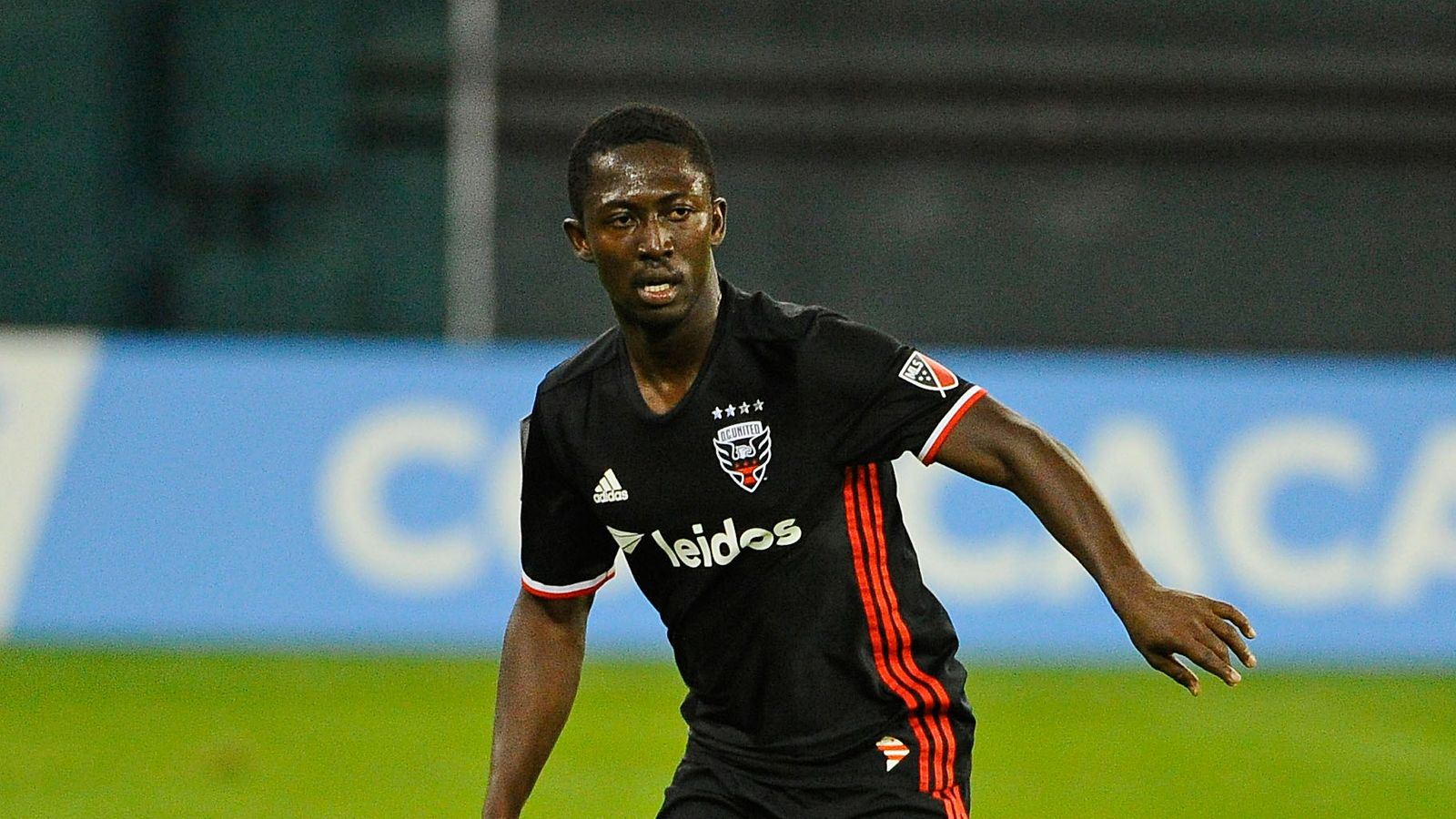 Ghanaian Patrick Nyarko scores to earn a point for DC United at Chicago Fire