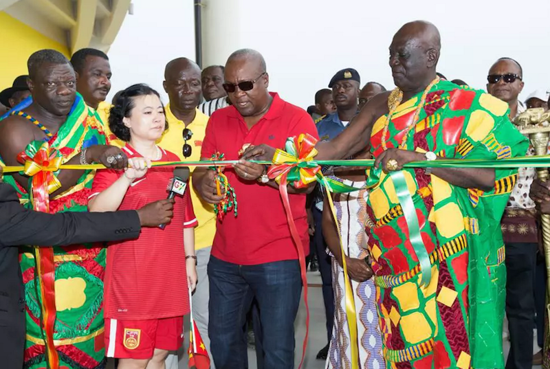 Ghana president John Mahama commissions new Cape Coast stadium