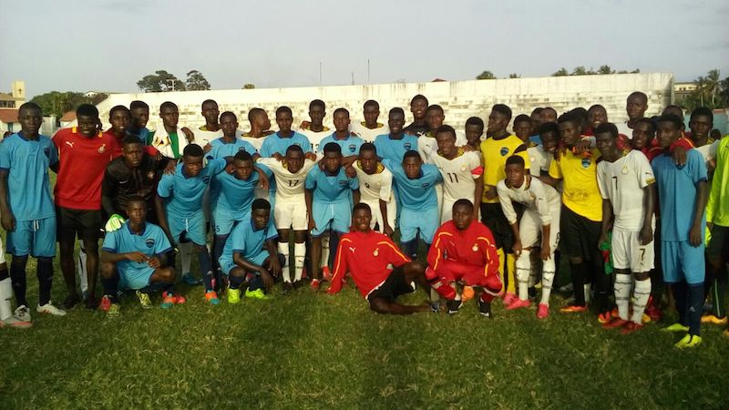 Division Two side Cape Coast Strikers host Black Starlets; lose 4-1 in friendly