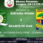 Re-live the Ghana Premier League LIVE play-by-play: Aduana Stars 1-1 Hearts