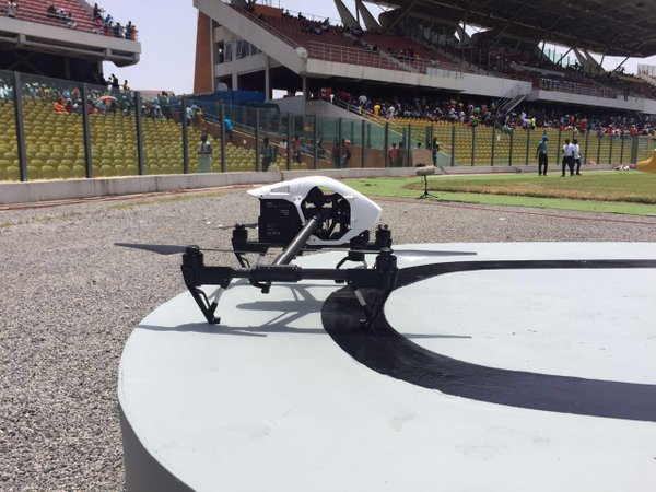 PHOTOS: Drones arrive at the Accra Sports Stadium for super clash between Hearts of Oak and Asante Kotoko