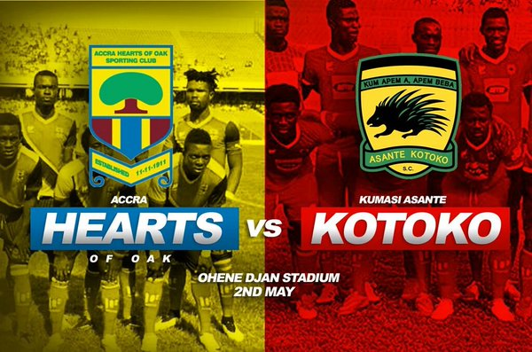 Re-live the Ghana Premier League LIVE play-by-play: Hearts 0-1 Kotoko