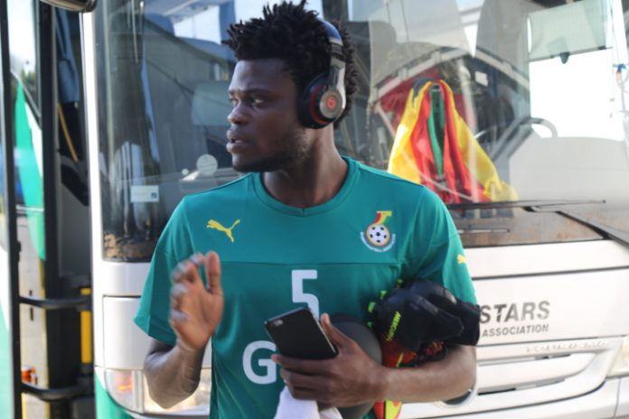 Atletico Madrid star Thomas Partey trains with the Black Stars for the first time