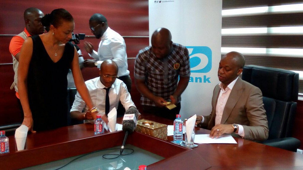 PHOTOS: Black Stars deputy captain Andre Ayew is new uniBank Brand Ambassador