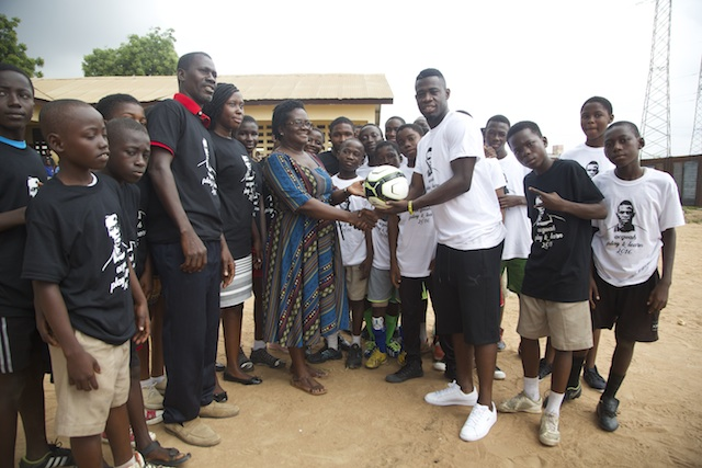 PHOTOS: Afriyie Acquah launches Learn & Play project with La Bawaleshie Primary School
