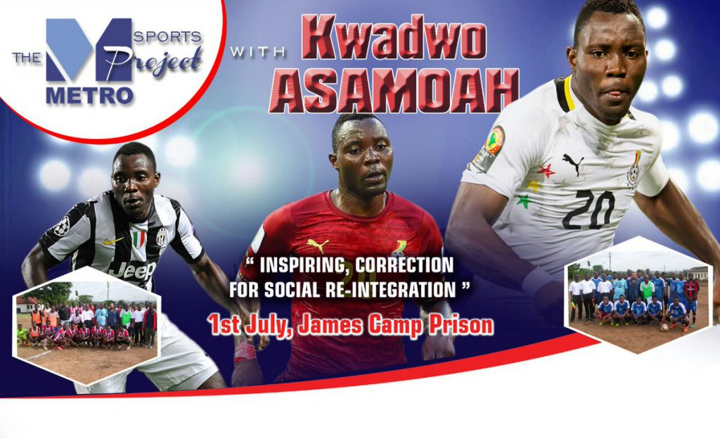 Kwadwo Asamoah leads Black Stars players to inspire James Camp Prisoners on 1st July