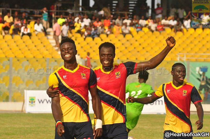 Hearts hero Cosmos Dauda not getting bogged down by missed chances