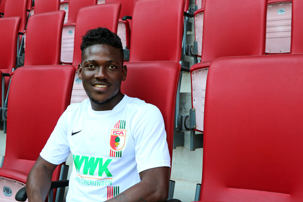 Daniel Opare features in Augsburg's promotional video for new season