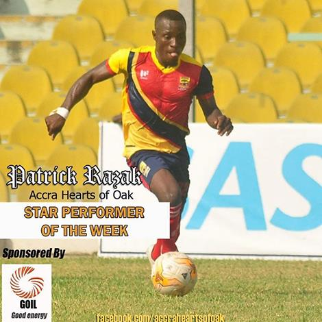 Hearts newboy Patrick Razak named star performer in Dreams FC win