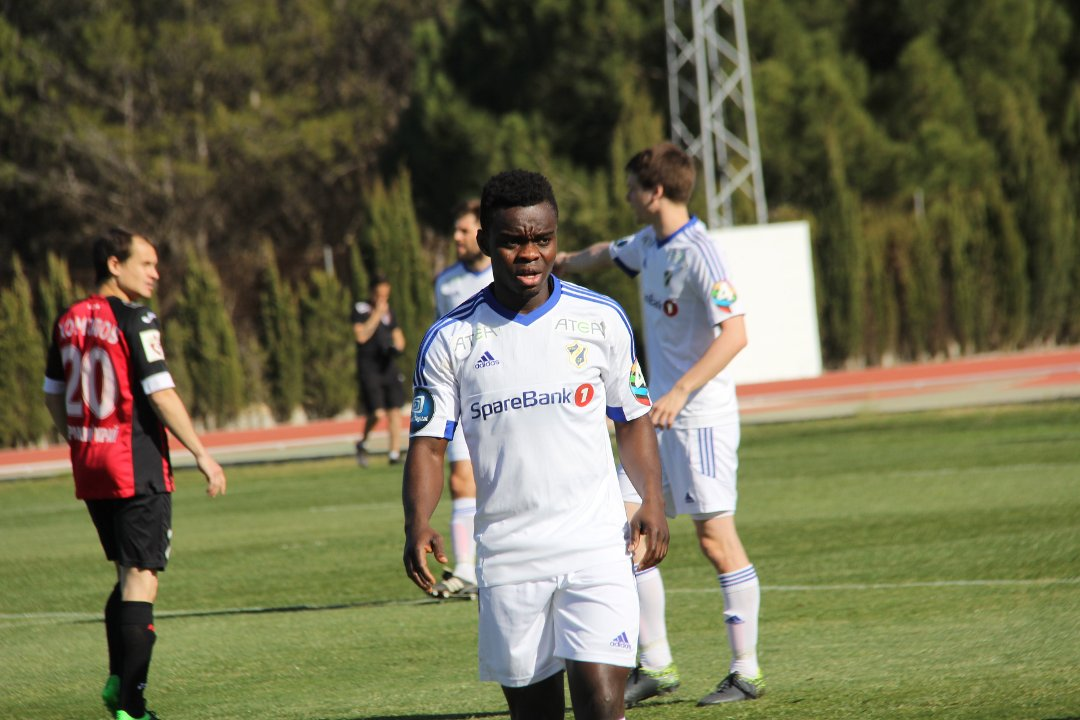 Ghanaian attacker Shadrach Eghan on target for Norwegian side Stabaek in friendly