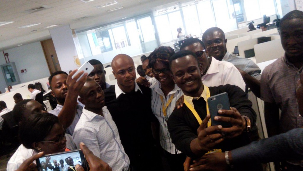 VIDEO: Humble deputy Black Stars captain takes time to have shots with MTN staff