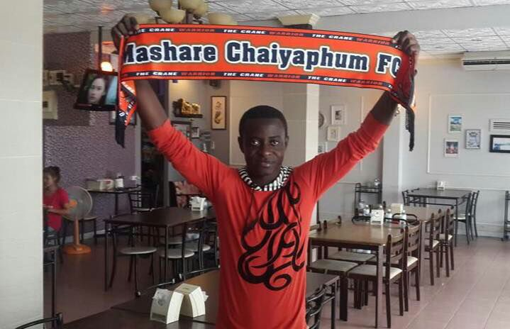 Kelvin Amponsah makes his debut for Thailand side Marshare Chaiyaphum