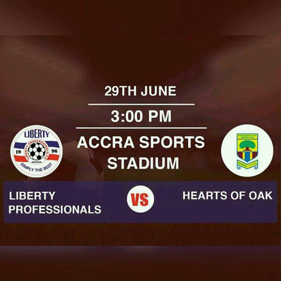 Re-Live the Ghana Premier League LIVE play-by-play: Liberty Professionals 1-1 Hearts of Oak