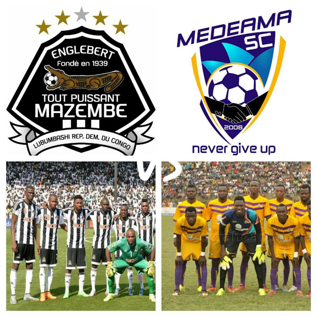 Re-live the CAF CONFEDERATION CUP LIVE PLAY-BY-PLAY: TP Mazembe 3-1 Medeama SC