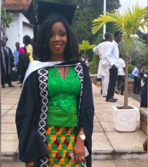 Kwadwo Asamoah's wife Abena graduates with MBA Entrepreneurial Management