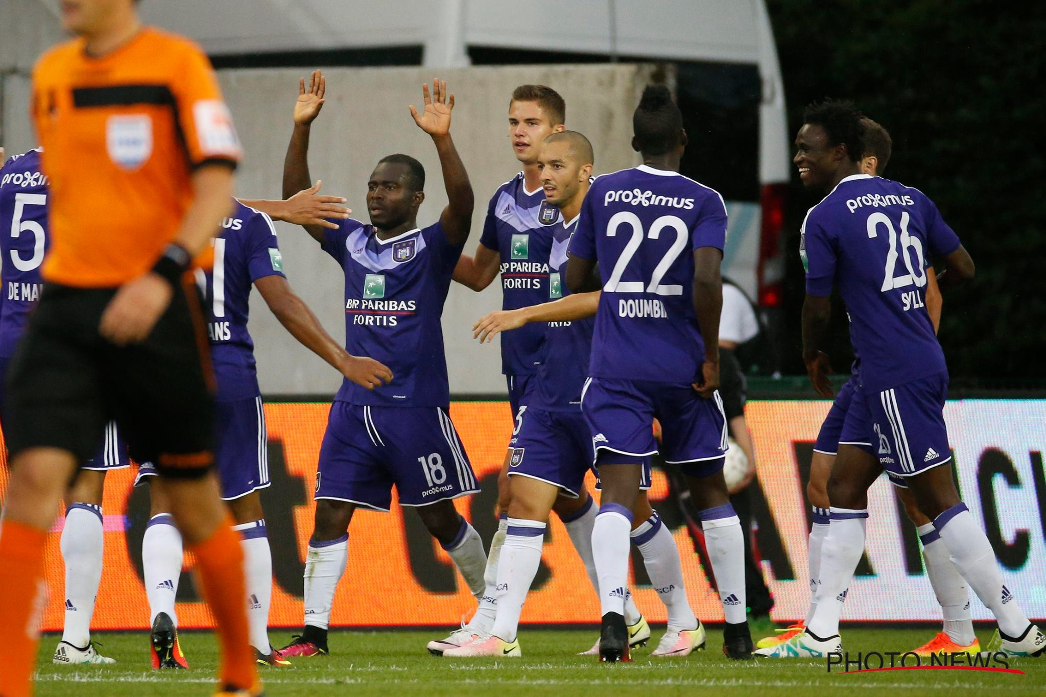 Anderlecht star Frank Acheampong SCORES in league opener but stretchered off