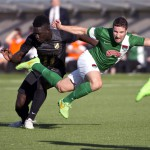 Europa League: Baba Mensah sees RED as Hacken draw 1-1 with Irish side Cork City