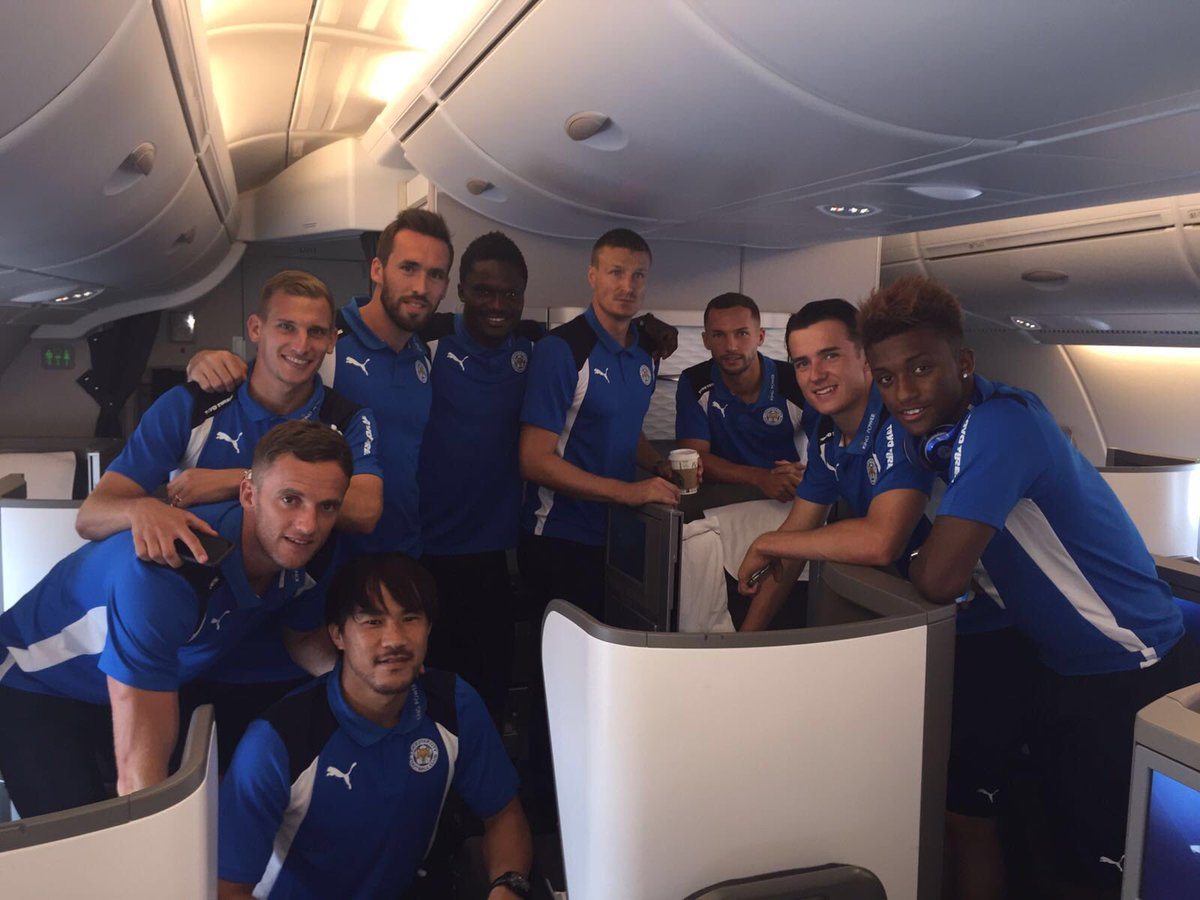 Pictures: Leicester City's Ghanaian duo Amartey, Schlupp of to pre-season in USA
