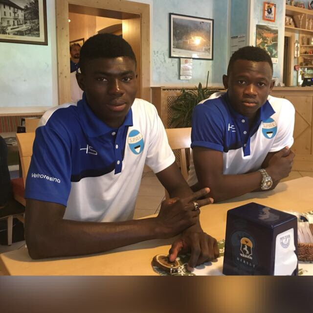 Serie B side SPAL Ferrera include teenagers Mawuli Eklu and Eleoenai Tompte on pre season tour
