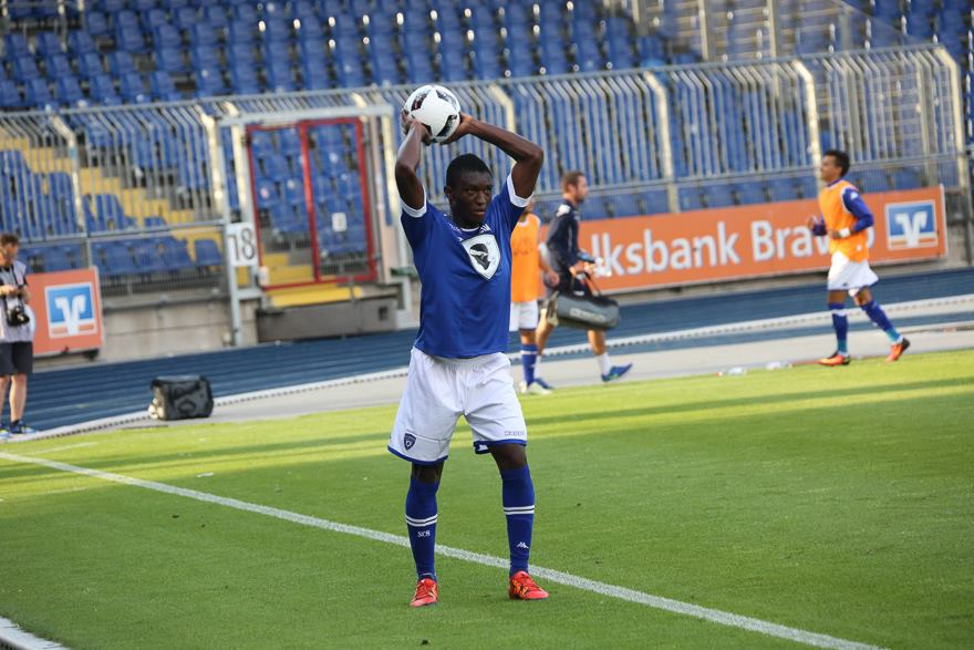Ghana U20 defender Geoffrey Acheampong scores Bastia's consolation goal friendly loss against German side Braunschweig