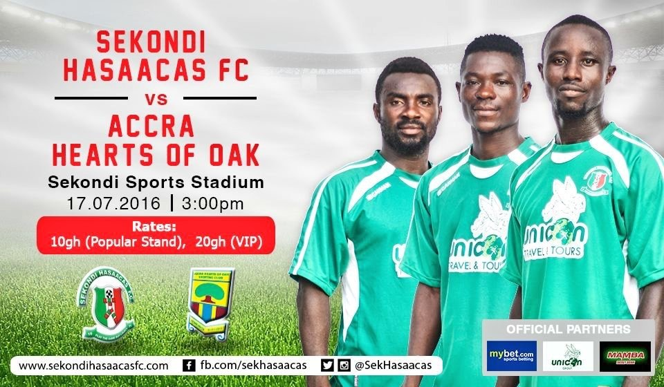 Ghana Premier League Preview: Sekondi Hasaacas vs Hearts of Oak- Doo Boys vow to hand Phobians season's first away defeat