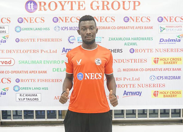 Indian second-tier side Aizawl FC sign striker Bright Mends