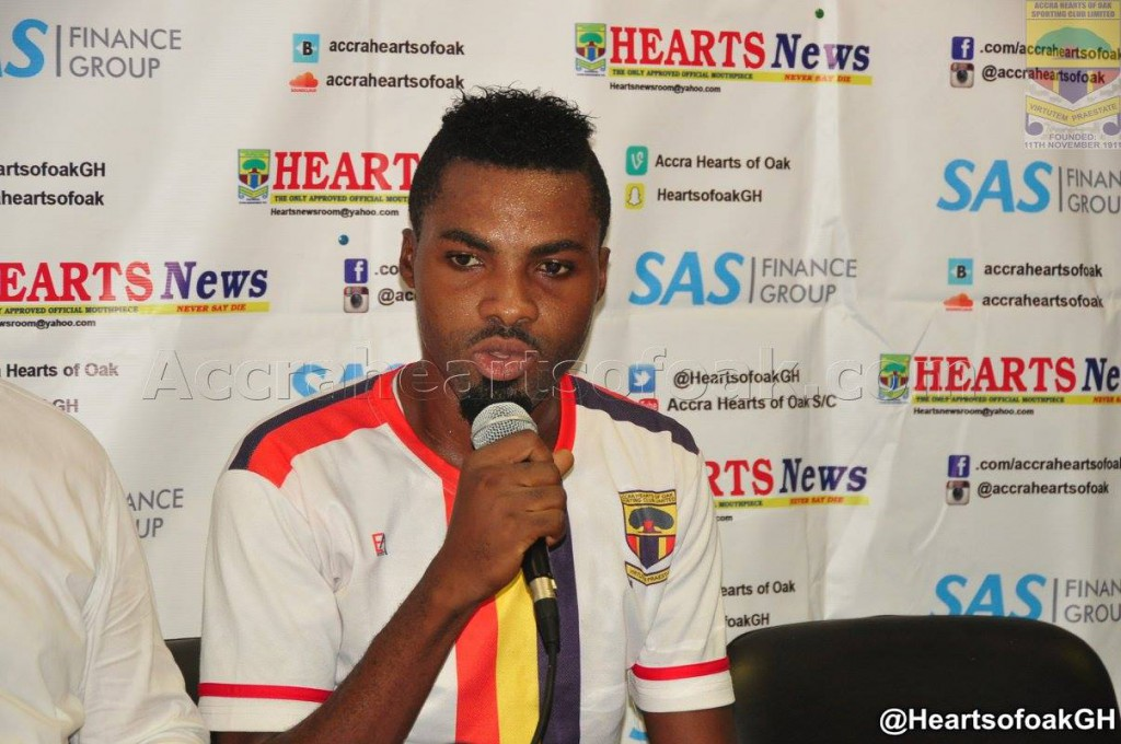 Striker Kwame Kizito ready to commit future to Hearts of Oak