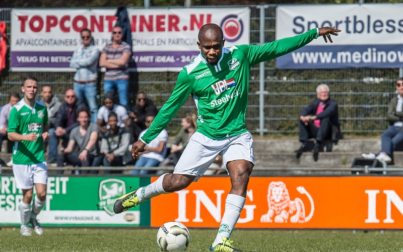 Veteran Ghanaian striker Matthew Amoah tastes defeat against former club NAC Breda