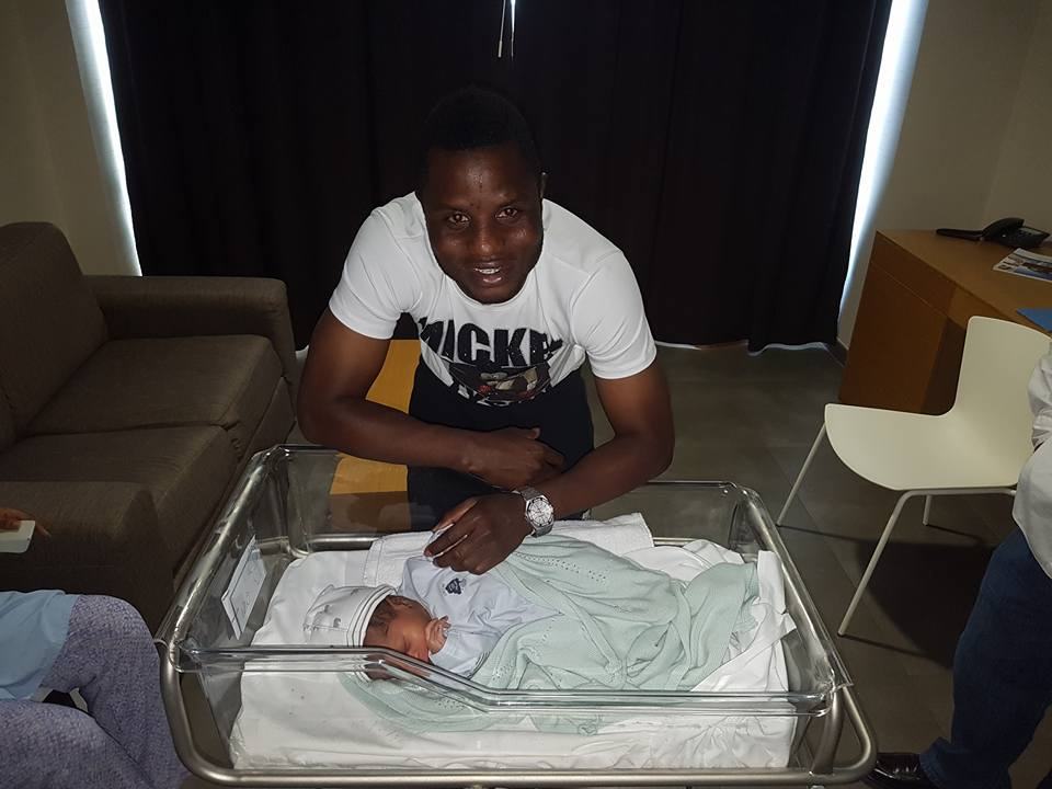 Mubarak Wakaso and wife welcome birth of bouncing baby boy
