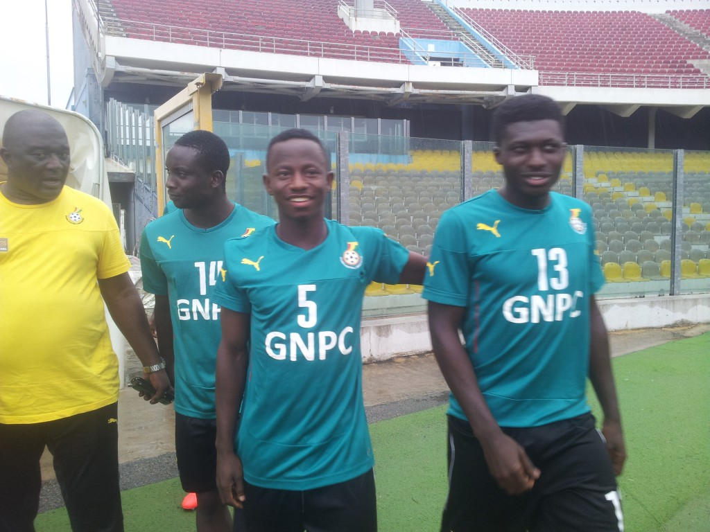AFCON 2017 QUALIFIER: New boys Yaw Yeboah, Dauda Mohammed hold first training with Black Stars