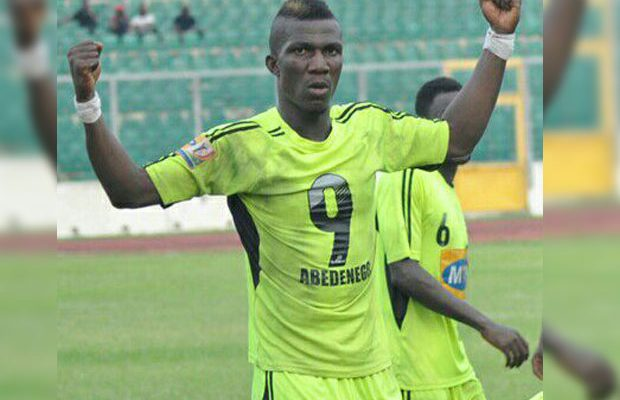Ace striker Abednego Tetteh to face Bechem United rap for mouth wide