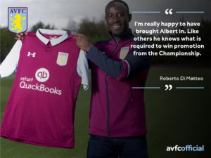 Aston Villa manager Roberto Di Matheo delighted with signing of wideman Albert Adomah