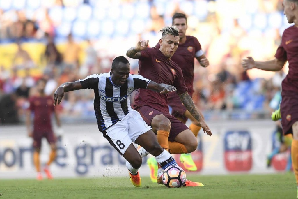 Emmanuel Agyemang-Badu in action for Udinese