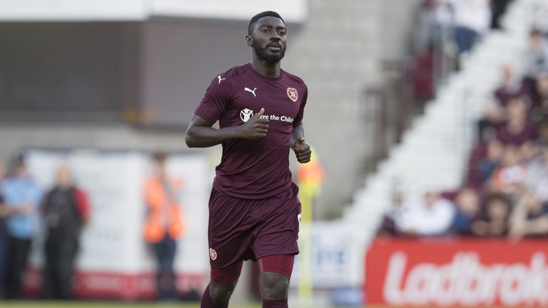 Ross Country agree deal for Hearts midfielder Prince Buaben