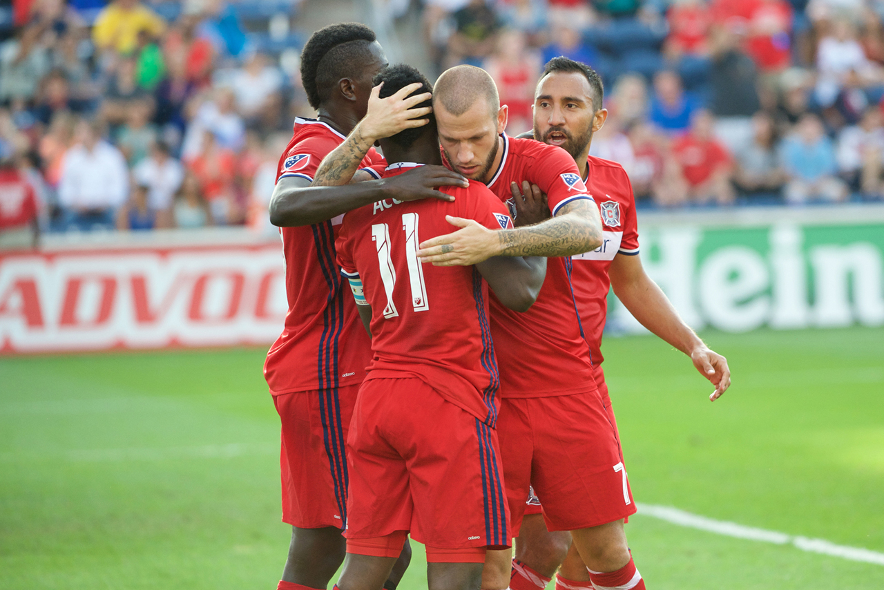 VIDEO: Watch David Accam's superb goal from distance in Chicago Fire draw