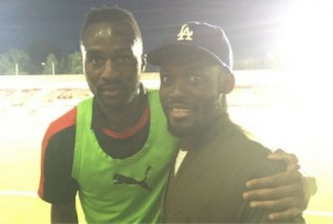 Michael Essien supports friend Daniel Pappoe in Crawley Town win in Checkatrade Trophy game