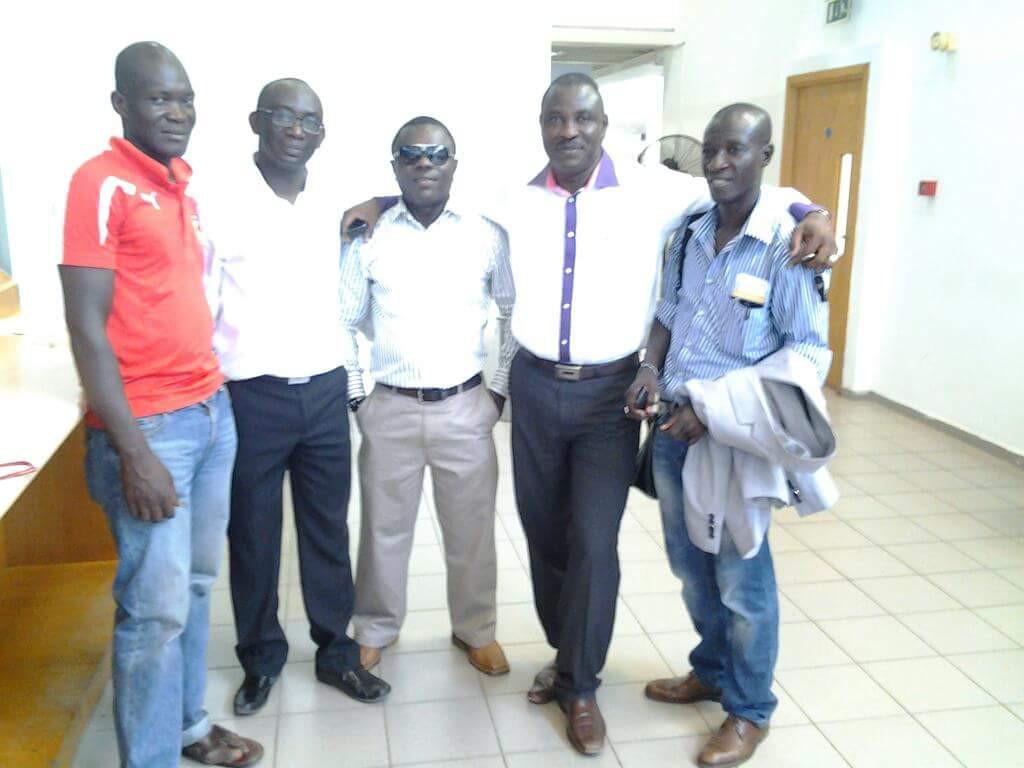 Nana Kwame Dankwah with former management and technical staff of Kotoko