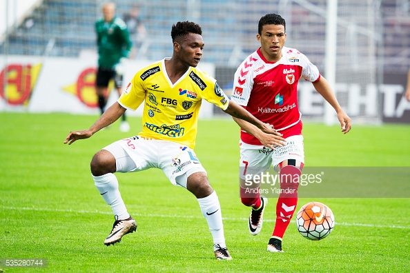 Former Man City starlet Enock Kwakwa scores to inspire Falkenbergs to big win Swedish Cup
