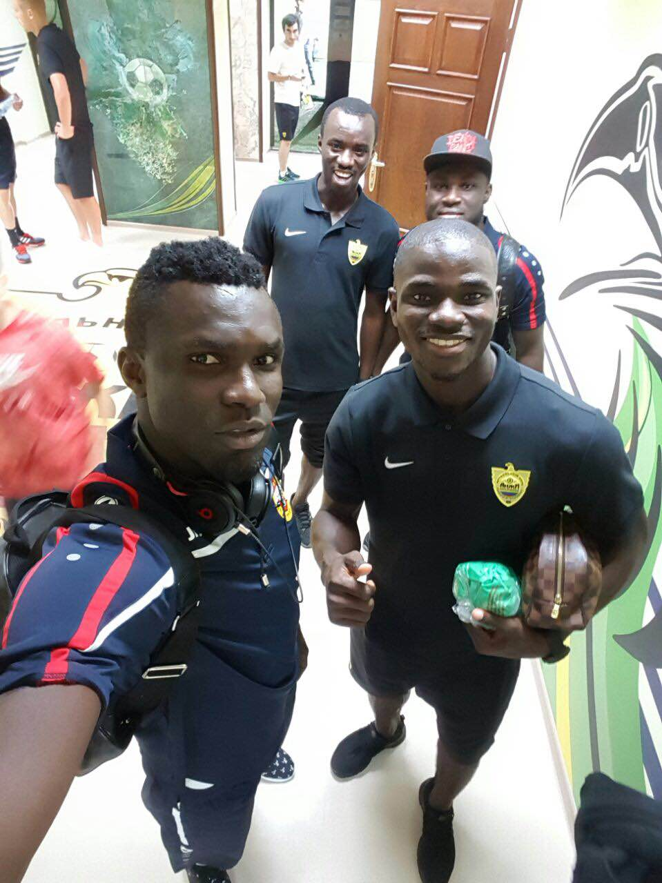 PHOTO: Black Stars players in Russia meet for the first time
