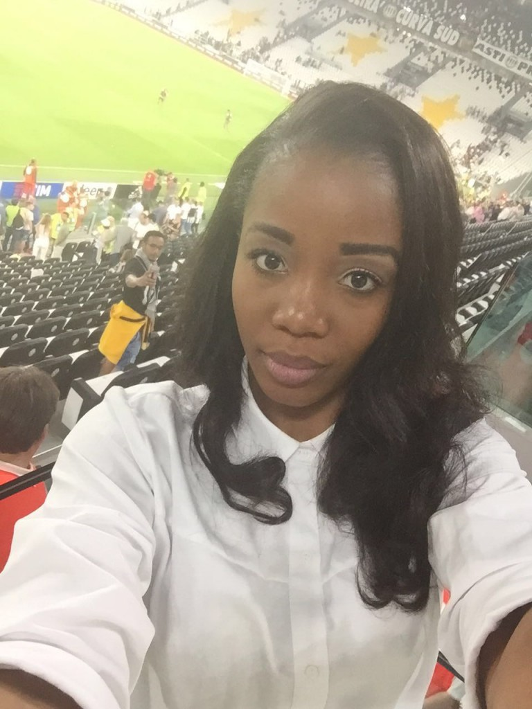 Kwadwo Asamoah's wife Abena watched as husband shines in Serie A opener